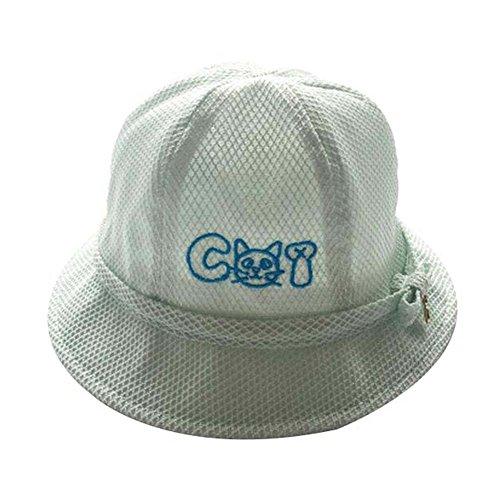 Chapeau en coton Chapeau pour bébés Chapeau pliable pour plage Charmant cadeau Sunhat Grand Bleu