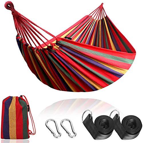 GHYTR Sola Hamaca Doble al Aire Libre Lienzo Doble Swing Transpirable para jardín Camping Columpio para niños Adulto red-190 * 150cm