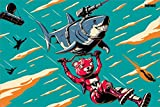 Fortnite Maxi Poster Laser Shark, 61 x 91,5 cm, laminiert