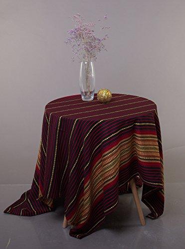 "Rushnichok Decorative Fabric with Ukrainian Ornament Tablecloth Easter plahta Ethnic GALICHINA red Black Yellow 200x150 cm / 79""x59"""
