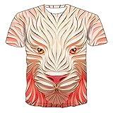 Mr.BaoLong&Miss.GO T-Shirt De Loup Créatif pour Hommes T-Shirt De Couple à Manches Courtes en Maille Créative