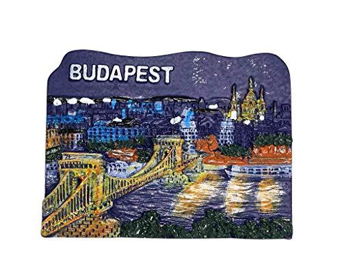 pequeño y compacto Puente de las Cadenas, Bastión de los Pescadores, Budapest, Hungría |  Imanes móviles 3D para refrigeradores …