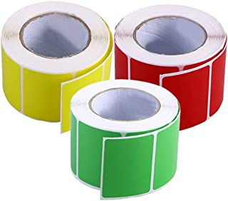 STOBOK Direct Thermal Labels,Multipurpose Labels for UPC Barcodes,Address,Multicolor,4x3cm(3 Rolls, 800/Roll)