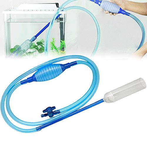 Xiton 1 STÜCK Aquarium Kies Reiniger Aquarium Reinigungspumpe Kit Für Aquarium Mit Großen Airbag Und Einstellbarer Wasserdurchflussregler Für Wasserwechsel Und Kiesreinigung