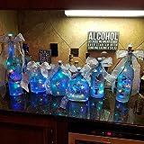 12 Stück LED Flaschenlicht, BIG HOUSE 20 LEDs 2M Lichterkette Kupferdraht batteriebetriebene Weinflasche Lichter mit Kork Schnurlicht für DIY Deko Weihnachten Party Urlaub Stimmungslichter(Mehrfarbig) - 2