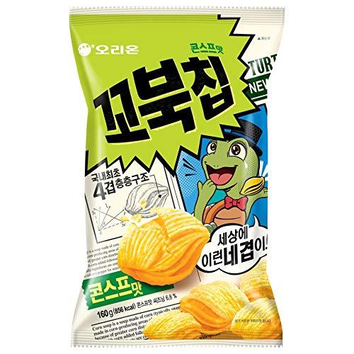 Korean Orion New Four Layers Turtle Chip Corn Soup Flavor 160g