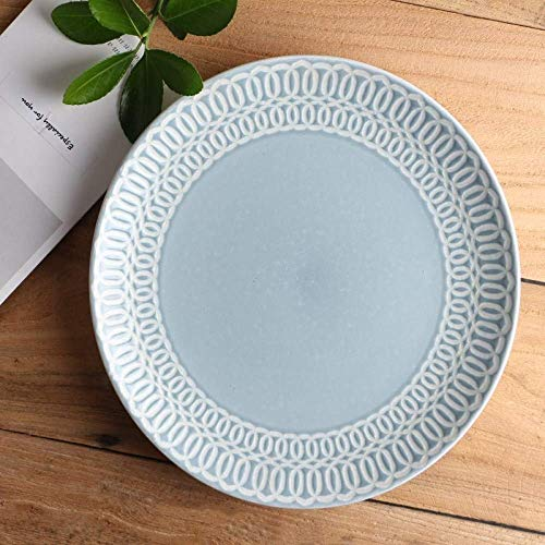 YAeele Creativa Mujeres Comida Tray Hotel vajilla de cerámica Japonesa Plato de Carne Plato Occidental Plato de Placa Plana Placa Sopa del Plato del Modelo del Color 21cm Fácil de Limpiar