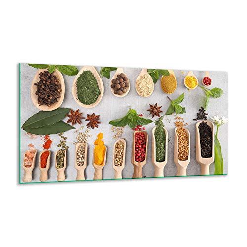 Fornuis afdekplaat keramische specerijen bont 1 stuk 90x52 kookplaten inductie