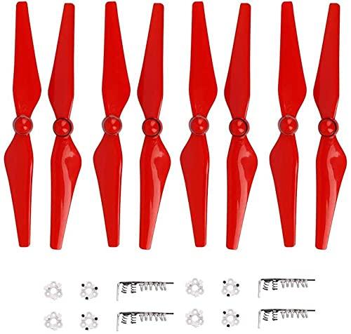 DNKKQ Kit Ventola di Ricambio per Accessori di Ricambio per Puntelli 9450 a sgancio rapido 8 Pezzi Pala dell'elica 9450S/adatto per Accessori per Drone DJI Phantom 4 PRO (Colore : Bianco) Stabilità