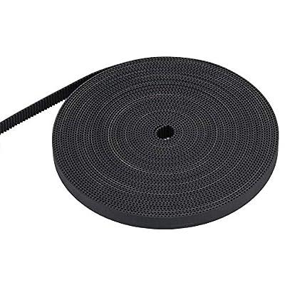 ASHATA 3D Printer Timing Belt 2GT 10mm Width,1M/ 2M/ 3M/ 5M/ 10M Toothed Belt GT2 3D Printer Timing Belt Pulley,10mm Width 2GT Rubber Synchronous Timing Belt for 3D Printer (10m)