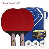 SSHHI 3 Sterne Ping Pong Paddel,2 Tabelle Tennis Bat,5 Schichten Aus Holz,Rutschfester Griff Mode/Wie gezeigt/A