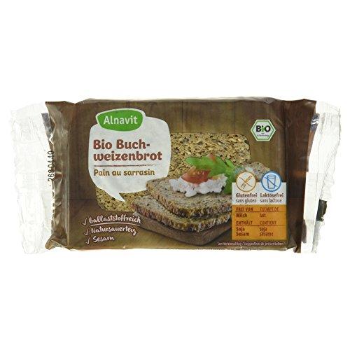 Alnavit Bio Buchweizenbrot, glutenfrei, laktosefrei, 6er Pack (6 x 250 g)