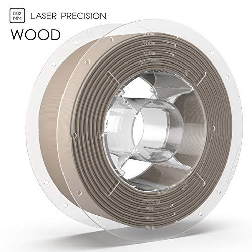 SainSmart PRO-3 Premium 1.75mm Wood PLA 3D Printer Filament, 2.2 LBS (1KG) Spool, Dimensional Accuracy +/- 0.02mm