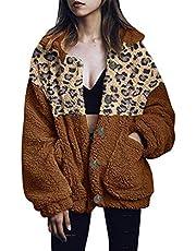 FRAUIT dam knapp leopard jacka plus size rock revers fuskför yllekappa patchwork ylljack lös lång ärm ytterkläder väska dragkedja vinterjacka mode kort coat