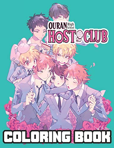 Ouran High School Host Club Coloring Book: anime coloring book for kids and adults (8.5 x11)