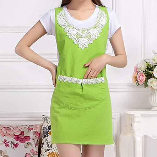 YLCJ schort, koreanisch, vest, keuken, katoen, volwassenen, jas, schorten, dames, groen