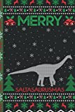 Ugly Saltasaurus Christmas Composition Notebook: Saltasaurus Lover Xmas Lighting Ugly Style Christmas Pajama Journals - Christmas Decoration Journal Notebook For Men, Women, Girls, Kids