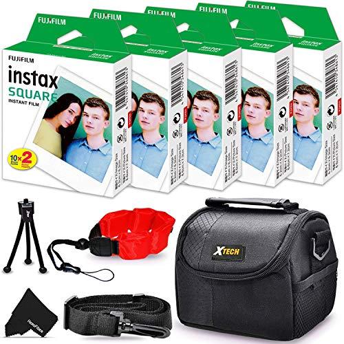 5 Pack FujiFilm Instax Square Instant Film (100...