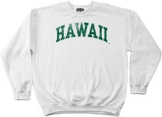NCAA Hawaii Rainbow Warriors 50/50 Blended 8-Ounce Vintage Arch Crewneck Sweatshirt
