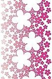 Livingwalls panel autoadhesivo Pop Up Panel rojo lila blanco 2,50 m x 0,35 m 942331