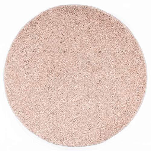 vidaXL Alfombra de Pelo Decoración Suelos Interior Hogar Elegante Moderna Fácil Mantenimiento Limpieza Suave al Tacto Práctica Rosa Envejecido 120cm