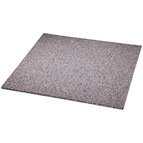 Xavax Anti-Vibrationsmatte für Waschmaschinen und Trockner (60 x 60 cm, Gummimatte, dämpft Vibrationen und Schall, Antirutsch-Matte, Waschmaschinen-Unterlage) grau