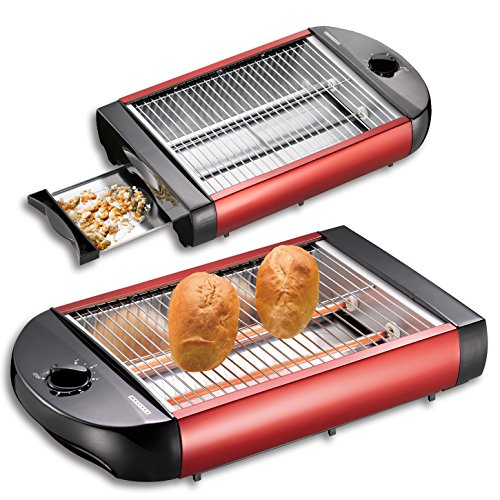(124) MELISSA Toaster Rot Flachtoaster Flachbetttoaster Tischröster Tisch