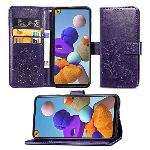 HEYB Funda para OPPO A73 Smartphone,Premium Cuero PU Cover con Soporte Plegable Apto Carcasa para OPPO A73 Case