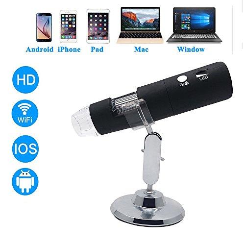 WiFi USB Digital Microscopio Cámara del,2MP 1080P HD con 50x a 1000x Ampliación Cámara del endoscopio portátil 8LED USB Mini para iPhone/iPad/Android/Windows/Mac