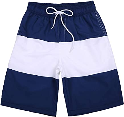 82a0bded95184c Caopixx Mens Quick Dry Printed Short Swim Trunks with Mesh Lining Swimwear  Bathing Suits