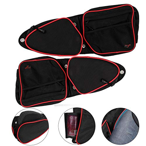 Cheapest Price! FLR 2 Pack RZR Side Door Bag UTV Front Door Side Storage Bag Set with Knee Pad Knee ...