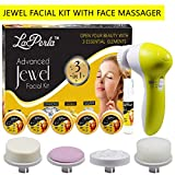 Adbeni Face Massager With 3in1 Jewel (Gold, Diamond & Silver) Facial Kit GC-701