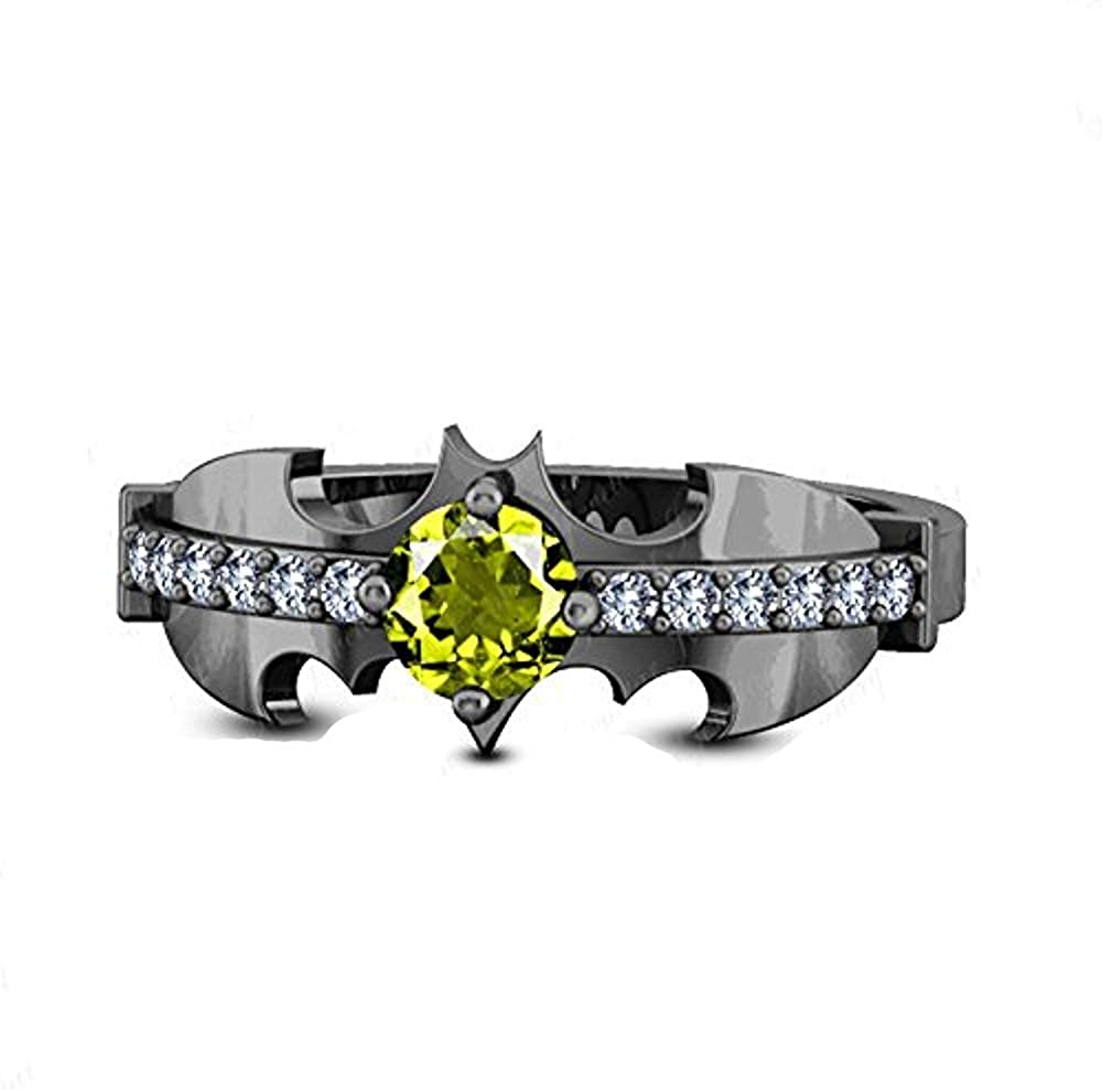 Classic 在庫処分 Round Cut Created 超激安特価 Peridot CZ Beautiful Diamond Knight