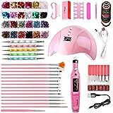 Moshbu - Juego de brocas para uñas eléctricas USB, lámpara LED UV o portátil, para manicura y limas de uñas, para exfoliar, moler, pulir, quitar uñas, el mejor regalo para mujeres y niñas