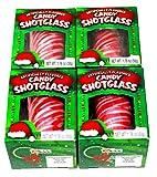 Merry Christmas Peppermint Gourmet Edible Candy Shotglass (50g) 1.76   Pack of 4