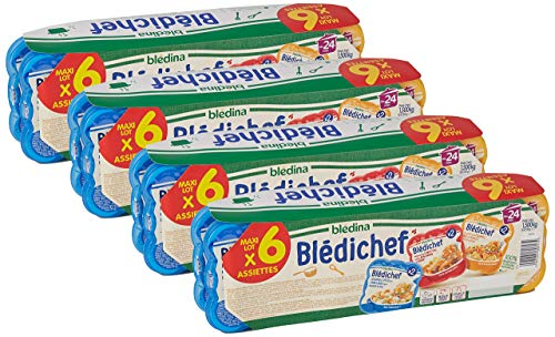 Blédina Blédichef, Repas bébé, Dès 24 Mois (2 ans), 3 Recettes, 250g (Packx6)lot de 4