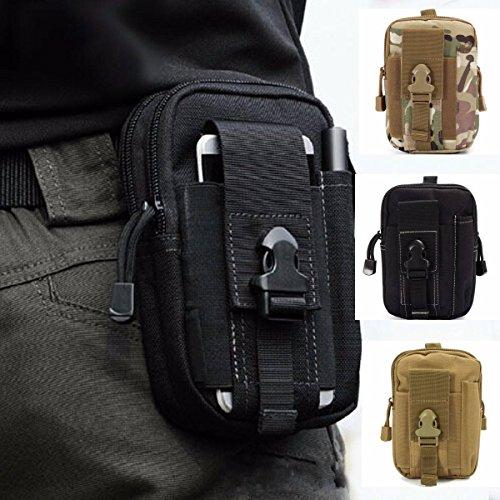 CAMTOA Tactical Hüfttasche Gürteltasche Handytasche, Mode Multifunktionale Kit Bag Beutel für Camping Wandern Outdoor Schwarz