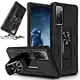 STORM BUY Phone Case for [ Samsung Galaxy Note 20 5G ], Heavy Duty Hard Cover with [Shock Absorption] Protection, Kickstand Ring Black Bumper Case for Galaxy Note 20 6.7 Inch-IRBK