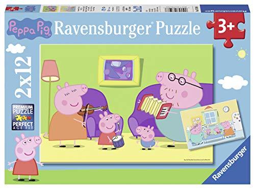 Ravensburger- Peppa Pig Puzzle Enfant, 07596, Multicolore