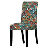 XIAOBAOZI ZS Funda De Silla Graffiti De Fantasía Abstracta,Soft Stretch Removable Washable Elasticity Chair Slipcovers For Dining Room Banquet Wedding Party Ceremony Décor,Set of 4