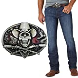 XGALA Western Cool Ghost Skeleton Cowboy...