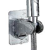 YUANQIAN Soporte de ducha de mano sin clavos, soporte ajustable para pared para baño con disco adhesivo