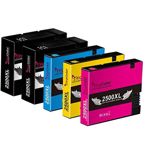 YINGCOLOR - Cartuchos de tinta compatibles con Canon PGI-2500XL PGI-2500 XL para Maxify iB4050 iB4150 MB5000 MB5050 MB5100 MB5150 MB5155 MB5300 MB5350 MB5400 MB5450 MB5455 Multipack 2BK/1C/1M/1Y