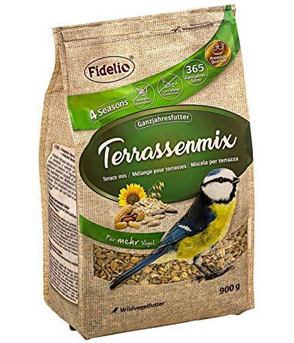 Fidelio Wildvogelfutter, Terrassenmix, schalenfrei, 900 g