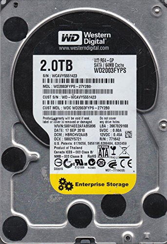 WD2003FYPS-27Y2B0, DCM HBRCHV2AAB, Western Digital 2TB SATA 3.5 Festplatte