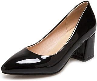 CHICMARK Escarpins élégants pour femme avec talon bloc - Chaussures de travail