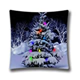 Navidad Holiday Throw Pillow Case Cute Reindeer Snowman Papá Noel Funda de Almohada Walmart...