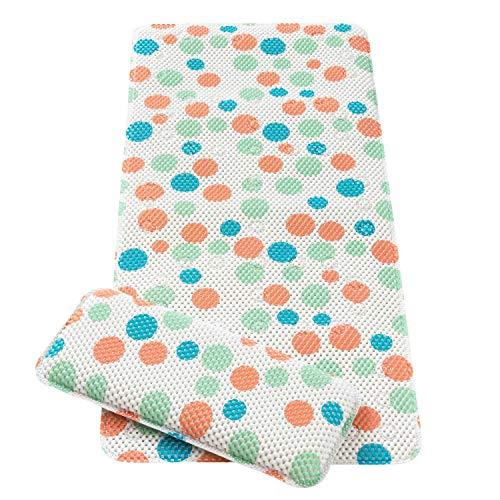 Clevamama Polka Dot - Alfombra de Baño Antideslizante para Bebés