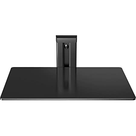 PERLESMITH Floating Wall Mount Shelf - Single Floating DVD DVR Shelf – Holds up to 16.5lbs - AV Shelf Strengthened Tempered Glass – Perfect PS4, Xbox One, TV Box Cable Box (PSDSK1)