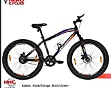 HERO CYCLE Monk 26×3.00 Fat Tyre Dual disc Break, Front Suspension, Single Speed Cycle for Adult, Single Speed